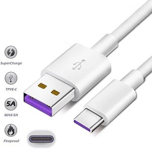Phone Cables 1M 5A Supercharge cable For Huawei Samsung Moto LG Type C USB 3.1 Type-C fast charging
