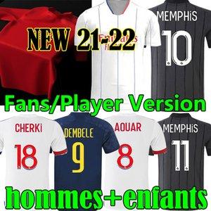 3XL Les Gones 20 21 New Maillot de oep Olympique Ly Фанаты Onnais Футбол Футбол Джорки Ол Мемфис Aouar Dembele Hommes Enfants Men Football