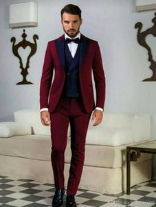 wedding suit for men 2021 custom made suits burgundy groom tuxedo