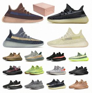 2021 Kanye Men V2 Running Outdoor Reflective Shoes West Mono Clay Ice Mist Women Ash Blue Pearl Stone Cinder Zyon Trainers Sneakers 36 Q2Fd#