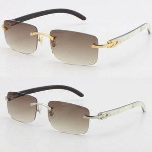 الجملة بيع بدون شفة 8200757 الرجال ساحة النظارات الشمسية الأصل أبيض داخل الأسود الجاموس القرن النظارات الذكور والإناث uv400 عدسة الإطار الحجم: 56-18-140mm