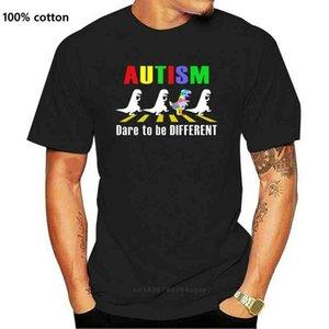 Maglietta divertente - Rex Autism Consapevolezza osata essere diversi da uomo a maniche corte per uomo