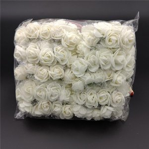 Pcs  Pack Mini Foam Artificial Rose Flower Bouquet Wedding Decor Craft Supplies CLH@8 Decorative Flowers & Wreaths