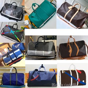 29 colors Green Yellow Blue black mens Keepall designers Bags 50 45 star flower Travels geninue leather Bandouliere pattern luggage women duffel bag 0101