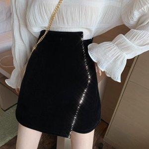 Skirts And Winter 2021 Irregular Short Skirt High Waist Woolen Show Thin Package Hip A-line Women's Wear