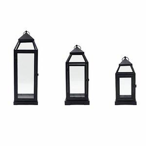 Luxury Black Candle Holder Garden Wedding Decorations Retro Lantern Portable Candlestick Vintage Iron Hanging 2021 Holders