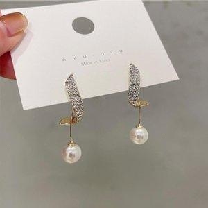 Baumel kronleuchter 2021 vertraglich lange süße pearl modellierung frauen ohrringe mode reizend joker frisch kristall elegant