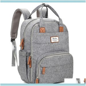 School Bags, Lage & Aessoriesmultifunction Travel Back Pack Maternity Baby Changing Bags Large Capacity Waterproof And Stylish Gray Diaper B