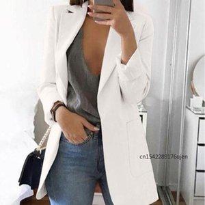 Women's Suits & Blazers 2021 Autumn Winter Fashion Leisure Small Suit Coat Pocket Long Sleeve Cardigan Women Street