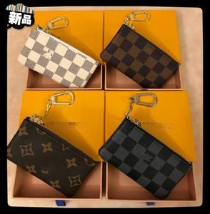 "KEY POUCH Fashion Womens Mens Key Ring Credit Card Holder Coin Purse Luxury Designers Mini Wallet Bag Leather Handbags LV""LOUIS""VITTON VUTTON"