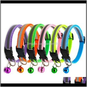 Collars & Leashes 6Pcs Band Necklace And Reflective Dog Necklet Adjustable Size Suitable For Pet Collar Dogs Bell Positioning 720 D1Cho