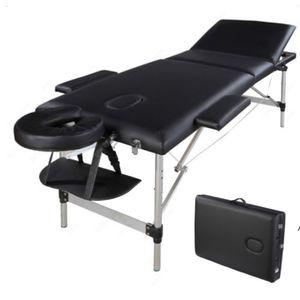 Portable Massage Bed, SPA Facial Beauty Furniture, 3 Sections Folding Aluminum Tube, Bodybuilding Table Kit sea ship DHE9548