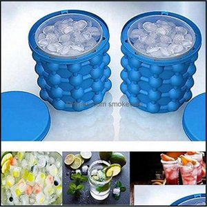 Buckets And Coolers Barware Kitchen, Dining Bar Home & Gardengenie Irlde Sile Wine Cooller Tool 130*140Mm Ice Cube Maker Bucket Mold Genie R