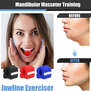 3 Levels Face Masseter Jaw Exerciser Silicone Jawline Fitness Ball Faces Jaws Trainer Neck Training Equipment