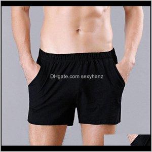 Mens Apparel Drop Delivery 2021 Casual Men Cotton Boxers Shorts Solid Pocket Mid-Rise Pouch Underpants Mans Arrow Pants Male Underwear M-Xxl