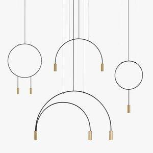 Pendant Lamps Iron Gold Light Lighting Brass Color Cord Chandeliers Ceiling Luzes De Teto Living Room Decoration Hanglampen
