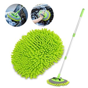 Brushes Mop Mitt with Extendable Handle Chenille Microfiber Cleaning Tool Car Wash Sponges