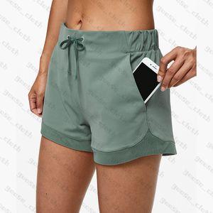 YOGA Şort Pantolon Kadın Tayt Tasarımcı Bayan Egzersiz Spor Giyim Katı Renk Spor Elastik Fitness Bayan Genel Tayt Kısa Legging