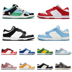nike sb dunk low off white Autêntico 2021 Top Quality Running Shoes Mens Costa das Mulheres Preto Chunky Dunky Dunks Universidade Red Low Trainers Skates Skate 36-45