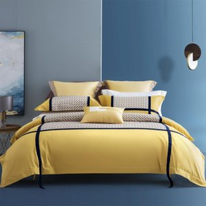 Bedding Sets Luxury 100% Egyptian Cotton Set 4Pcs King Queen Size Soft Bed Duvet Cover Flat Sheet Coberta De Cama Casal