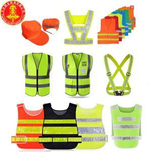 Reflective traffic sanitation printed police vest fluorescent night running strap