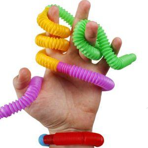 압축 해제 미니 튜브 감각 FIDGET 트위스트 튜브 장난감 스트레스 불안 릴리프 스퀴즈 스트레치 텔레스코픽 벨로우즈 파이프 손가락 재미 장난감