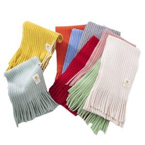 Kids Scarves Children Scarf Baby Ring Boys Girls Accessories Autumn Winter Childrens Soft Warm Tassle Knitted Wool Long B8943