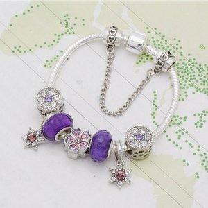 Fashion 925 Silver Charms Bracelet Fit Pandora European Beads Jewelry Bangle DIY Bracelet for Women