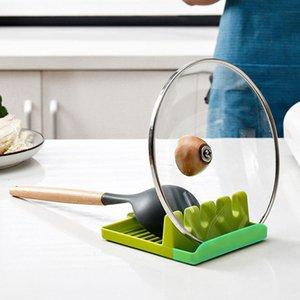 Kunststoff Organizer Küchenwerkzeug Anti-Rutsch-Suppe Löffel Essstäbchen Spatel Kochen Regal Multifunktions Utensilien Matte Rest Lagerhalter Pad
