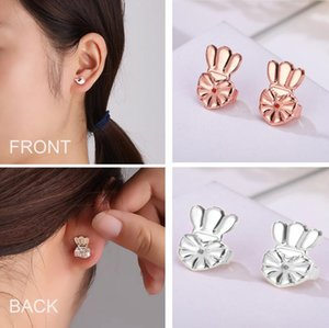 Ear Nail Assistive Device Adjustable Earring Back Antiallergic Conjoined Crown Creative And Personalized Earrings Button
