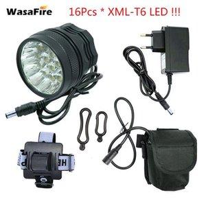 WasaFire 40000LM Bike Light 16 * XML-T6 Lampada da bici LED + 9600mAh Batteria Bicycle Front Front Light Headlight Guida Accessori per ciclismo
