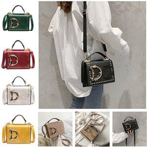 Fashion Letter Shoulder Bags Women Girls Handbag Rivet Designer PU Leather Crossbody Messager Bag Luxurys Handbags Outdoor Phone Pouch Gifts