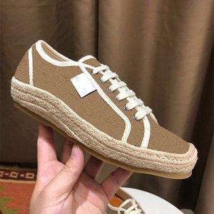 Matelasse lienzo espadrille beige / plataforma de cordón de ébano zapatos de mujer ACE Imprimir tejido Sole zapato casual Vintage Deportes y Diseñadores de ocio Sneaker
