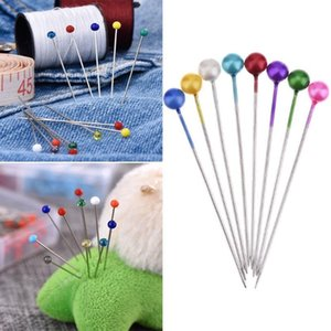 100 200PCS Round Head Clothing Pin Mix Color Dressmaking Wedding Corsage Florists Sewing Pins DIY Decoration Crafts