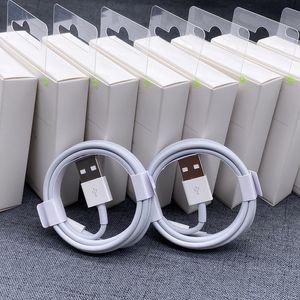 Orijinal Yüksek Kalite Şarj Kablosu 1 M 2 M USB Kablosu Veri Aktarımı Hızlı Şarj Için iPhone Kablosu ile Paketleme Kutusu