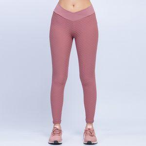 Women Elastic Leggings Tracksuits Lift Hip Yoga Clothing Solid Jacquard Training Fitness Tight Ladies Sport Gym Wear Skinny Pants