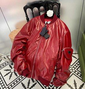 Модные куртки мужские кожаные кожаные пальто осенью и зимней верхней одежды дизайнерское хлопковое платье с классическим перевернутым треугольником женские куртки из трех цветов Размер S-L