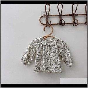 Clothing Baby Kids Maternity Drop Delivery 2021 Baby T Shitrt Tops Autumn Girl Fashion Shirts Korean Style Floral Infant Long Sleeve Open Sti