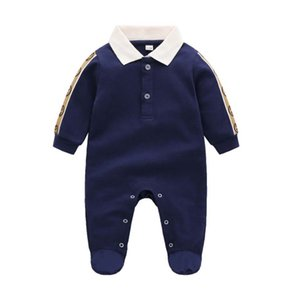 Footies European and American style one-piece knitted spring autumn newborn long-sleeved romper baby boy clothes