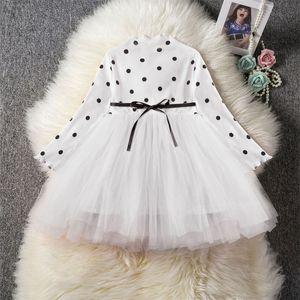 Robe à manches longues pour fille pour fille Enfants Costume Costume School Porter des robes pour fille 1 2 3 4 5 ans Vêtements de vacances 943 x2