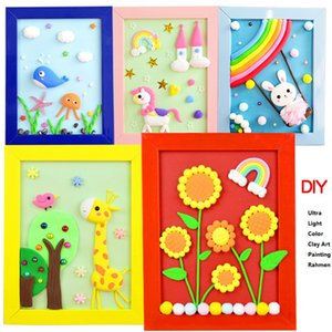 3D DIY Ultra Light Color Clay Art Painting Rahmen for 3 years old+ Nontoxic Crafts, Christmas Birthday Gifts