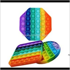 Favor Festive Party Supplies Home Garden Drop Party 2021 Push Bubble Toys Autism Need Needs Relefante ayuda a aliviar el estrés y yo