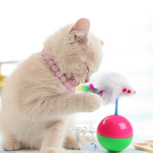 Durable Pet Cat Toys Mimi Favorite Fur Mouse Tumbler Kitten Cat Toys Plastic Play Balls for Catch Cats Supplies