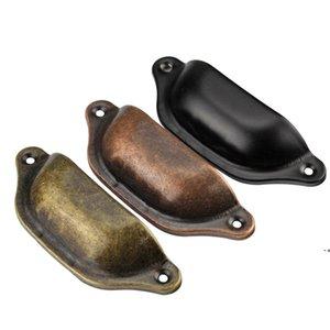 NEWRetro Cabinet Knobs Handles Metal Home Drawer-Cabinet Door Handle-Furniture Knob Handware Cupboard Antique Brass Shell Pull Handle GWD108