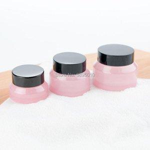 Хранение бутылки JARS 15G 30G 50G розовый макияж Стеклянная банка с черными крышками Уплотнение 1 унция Контейнерная косметическая упаковка, кожей CAND F419