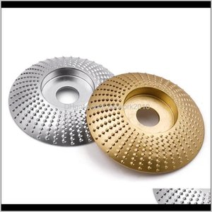 """Parts Tools Home & Garden Drop Delivery 2021 Round Wood Grinding Wheel Abrasive Disc Angle Grinder Carbide Coating 16Mm 5 8"""" Bore Shaping San"""