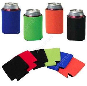 wholesale 330ml Beer Cola Drink Can Holders Bag Ice Sleeves Freezer Pop Holders Koozies 12 color DAJ334