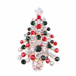 Christmas Brooches for the New Year Nice Winter Brooch Pins Luxury Jewelry Rhinestones Brooches WAJ0746