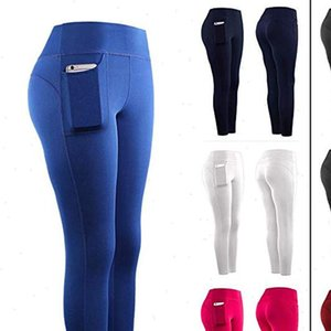 Women Stretch Yo ga Leggings Womens Legging Gym Sports Pockets Pencil Pants Fitness joggers Sweatpants Trousers