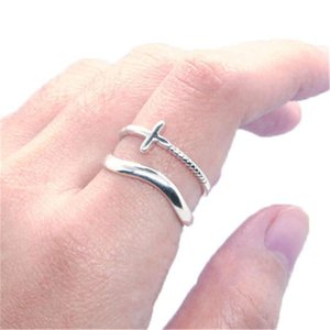 Support Dropship Size 6-10 925 Sterling Silverl Ring Est Lady Girls Fashion Silver Band Rings